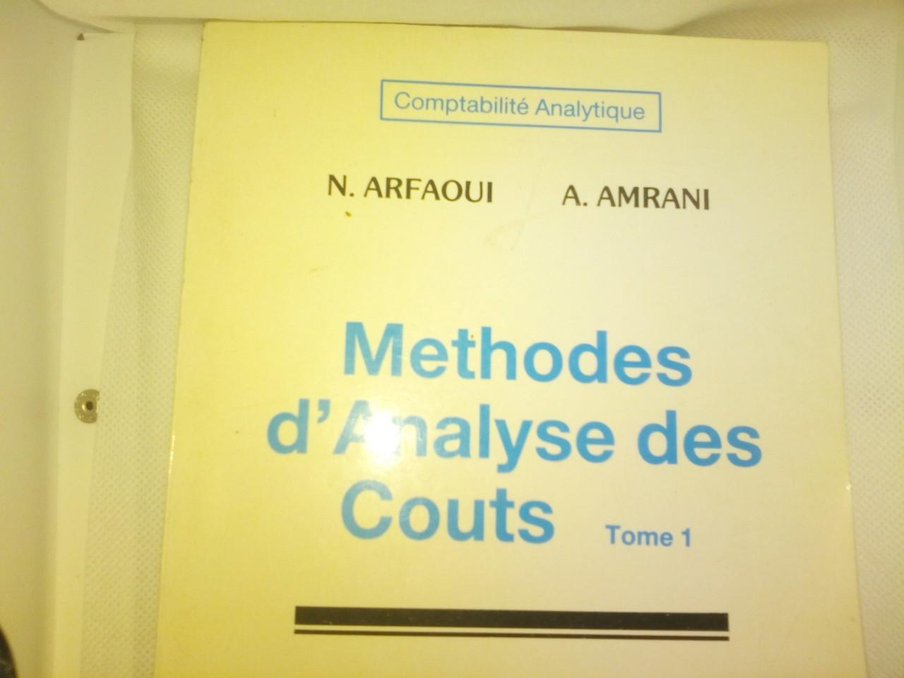 Methodes d Analyse des Couts